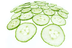 Fisheye cucumber Royalty Free Stock Photography