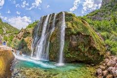 Fisheye de Krcic da cachoeira Fotos de Stock