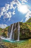 Fisheye de Krcic de la cascada Imagen de archivo