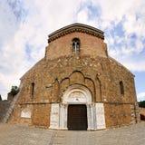 Fisheye de la abadía de San Giovanni en Venere en Fossacesia (Italia) Imagenes de archivo