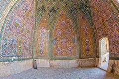 Fisheye de la decoración de Nasir al-Mulk Mosque Imagen de archivo