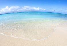 Fisheye de la orilla del Caribe Imagen de archivo libre de regalías