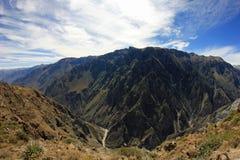Fisheye de panorama de canyon de Colca Images stock