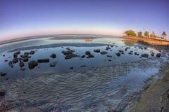 Fisheye de Sandgate, Queensland, Australia foto de archivo