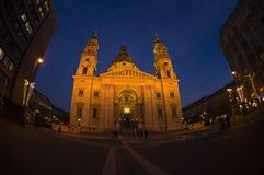 Fisheye della basilica della st Stephen Immagini Stock