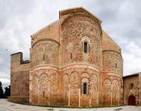 Fisheye der Abtei von San Giovanni in Venere in Fossacesia (Italien) Lizenzfreie Stockfotos