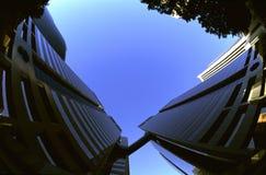 Fisheye Gebäude lizenzfreie stockfotos