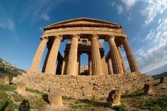 fisheye grecki Italy świątyni widok Zdjęcia Stock