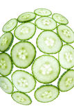 Fisheye green cucumber Stock Photos