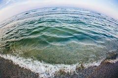 Fisheye havssikt Arkivfoton