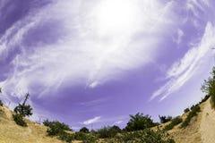 Fisheye himmel Royaltyfri Bild