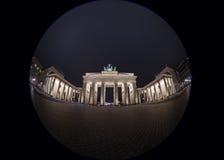 Fisheye Image of Brandenburg Gate Royalty Free Stock Photo