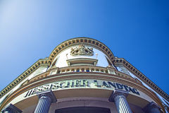 Fisheye image of the entrance of the Landtag of Hesse in Wiesbaden Stock Images