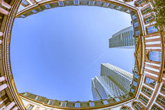 Fisheye image of the Palais Thurn und Taxis in Frankfurt am Main Stock Image