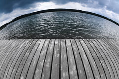 Fisheye lake Royalty Free Stock Photo