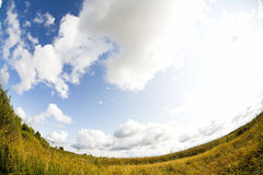 Fisheye landscape Royalty Free Stock Photography