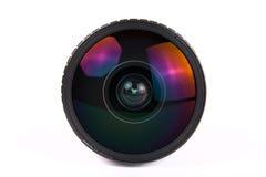 Fisheye lens. Fish-eye lens macro isolated on white background Royalty Free Stock Images