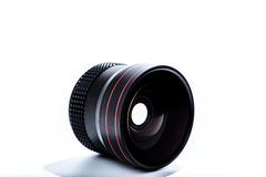 Fisheye Lens Angled on white background Stock Photos