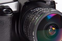 Fisheye lens closeup