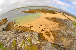 Fisheye  lens ireland countryside Stock Photography