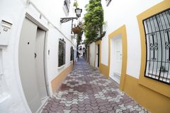 Street view of Marbella city, Andalucia Spain stock photo