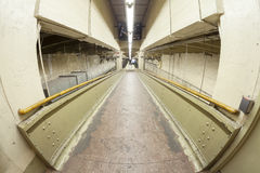 Fisheye lens photo of a ramp in Grand Central Terminal. Stock Images
