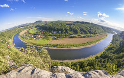 Fisheye lens photo of Rathen, Germany. Stock Images