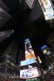 Fisheye lens photo of Times Squares at night. Royalty Free Stock Image