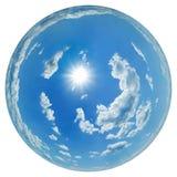fisheye niebo Zdjęcie Royalty Free