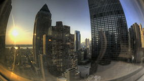 Fisheye NYC Windowview stock video footage