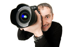 Fisheye photo of photographer Royalty Free Stock Image