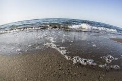 Fisheye plaża Obrazy Royalty Free