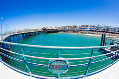 Fisheye of Redondo Beach Pier Stock Image
