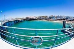 Fisheye of Redondo Beach Pier Stock Image