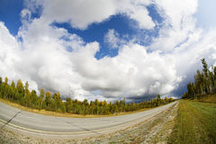 Fisheye road Royalty Free Stock Photos