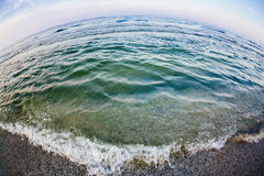 Fisheye sea view Stock Photos