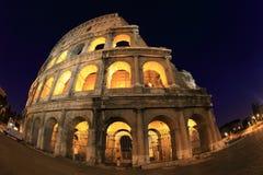 Fisheye sikt av Colosseo Arkivfoto