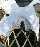 Fisheye van Zwitsers aangaande de bouw Stock Afbeeldingen