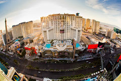 Fisheye Vegas Royalty Free Stock Photography