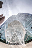 Fisheye View of The Bow at Calgary Downtown Royalty Free Stock Photography