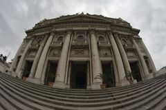 A fisheye view of the church of Capodimonte Royalty Free Stock Photos