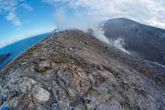 Fisheye view of crater on Vulcano island, Italy Stock Photography