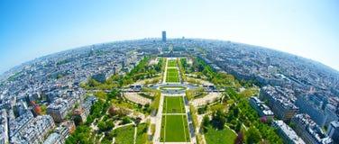 Fisheye View from Eiffel Tower Royalty Free Stock Photo