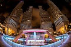 Fisheye View of Fountain of Wealth, Singapore Stock Image