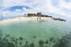 Fisheye view of Gusungan Sipadan island located at Semporna, Sab Royalty Free Stock Photography
