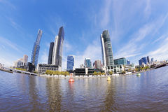 Fisheye view of Melbourne in the daytime Stock Photography