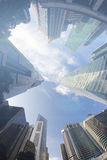 Fisheye View of Modern Buildings. Business Concept Royalty Free Stock Photography