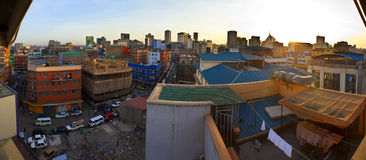 Fisheye view of Nairobi. Kenya, from rooftop stock image