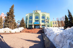 Fisheye view of the office building of the Samara city Administration royalty free stock image