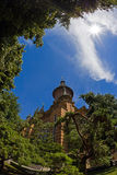 Fisheye view at the Orthodox Cathedral in Timisoara, Romania Royalty Free Stock Image